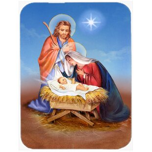 Compare Christmas Nativity Glass Cutting Board By Caroline's Treasures