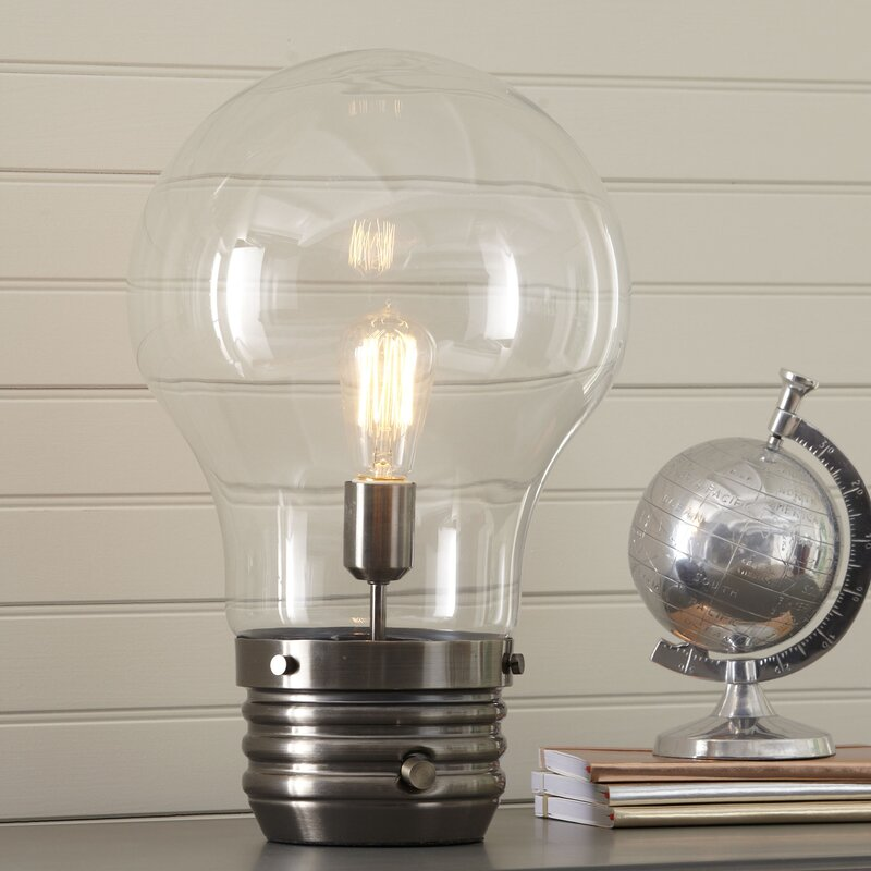 Birch lane kids edison 18 table lamp with globe shade reviews edison 18 table lamp with globe shade aloadofball Gallery