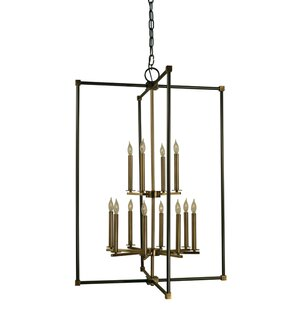 Framburg Lexington 12-Light Square/Rectangle Chandelier