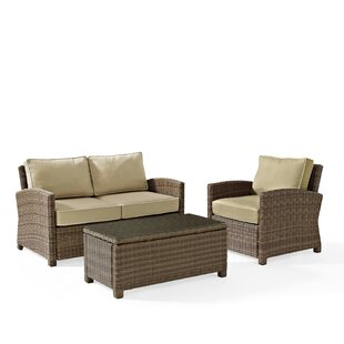 Lawson 3 Piece Sofa Set with Cushions