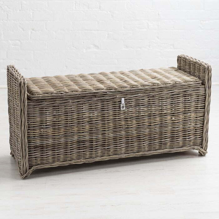 Cool Orava Wicker Storage Bench Squirreltailoven Fun Painted Chair Ideas Images Squirreltailovenorg
