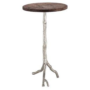 Fordham Wood/Nickel End Table by One Allium Way