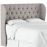 Marksbury Tufted Upholstered Wingback Headboard by Wrought Studio™