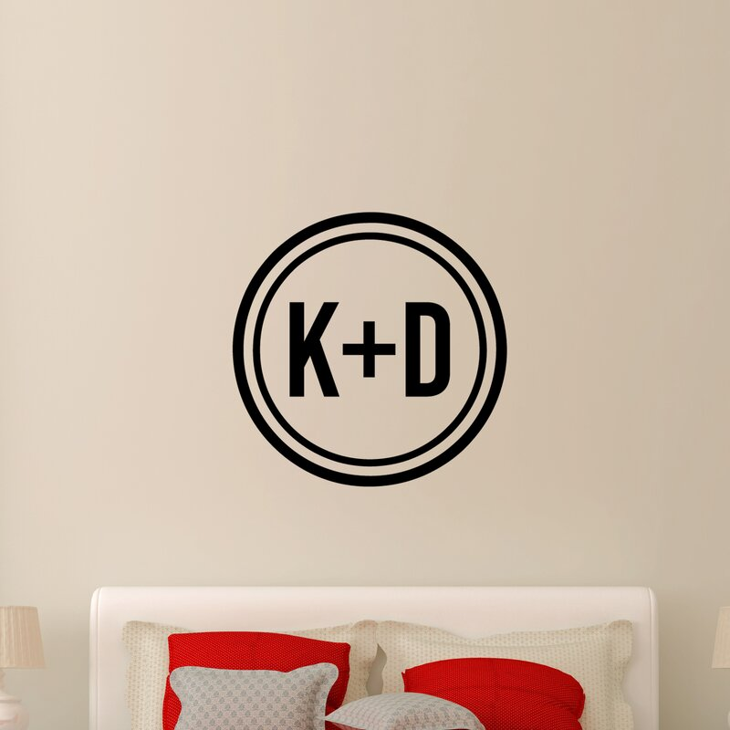 winston porter prewitt custom circle initials wall decal | wayfair