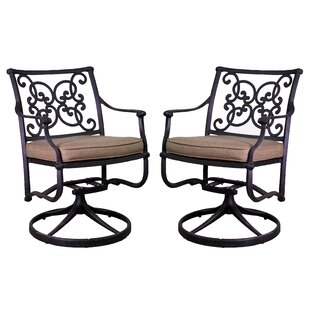 Three Posts Fisher Patio Chair with Cushion (Set of 2)