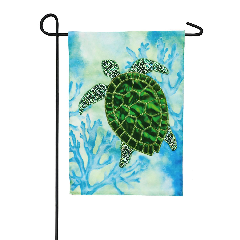Evergreen Flag Garden Sea Turtle 2 Sided Linen 18 X 12 5 In Garden Flag Wayfair