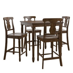 Petrucci Reclaimed Wood 5 Piece Pub Table Set by Alcott Hill
