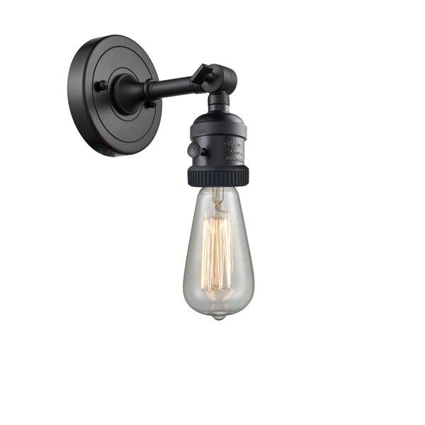 Innovations Lighting Bare Bulb 1 Light Dimmable Brushed Satin Nickel Armed Sconce Wayfair
