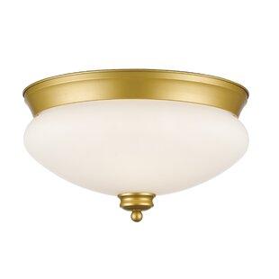 Best Reviews Casselman 2-Light Bowl Glass Shade Flush Mount By Darby Home Co