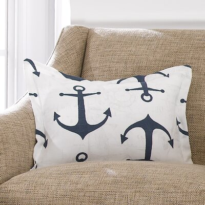 Anchors Baby Pillow Sham Liz and Roo Fine Baby Bedding