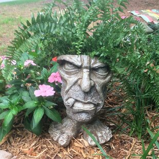 Muggly The Face Uncle Carmine Statue Planter by HomeStyles