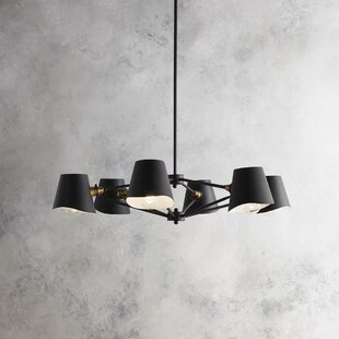 Buy luxury Longley 6-Light Shaded Chandelier By Wade Logan