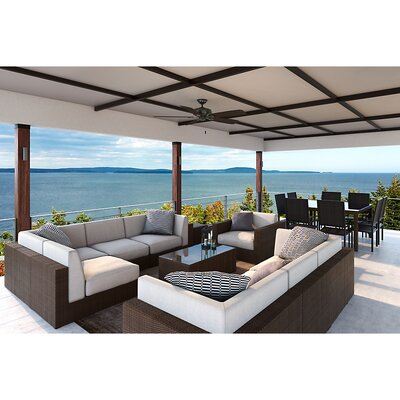 """60"""" Charthouse 5 Blade Outdoor Ceiling Fan with Remote Casablanca Fan"""