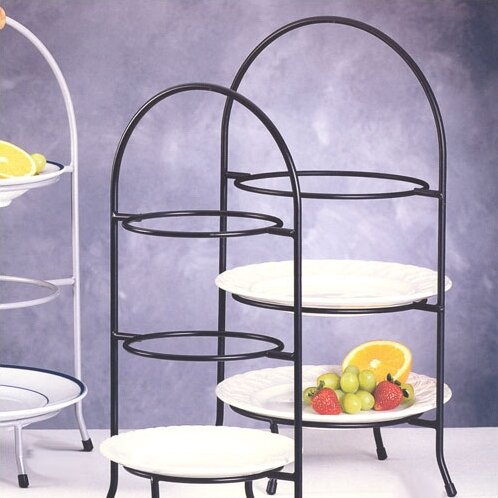 Huntley 3 Tier Dessert Plate Rack & Laurel Foundry Modern Farmhouse Huntley 3 Tier Dessert Plate Rack ...