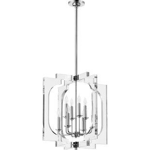 Pavan 8-Light Geometric Chandelier by Everly Quinn