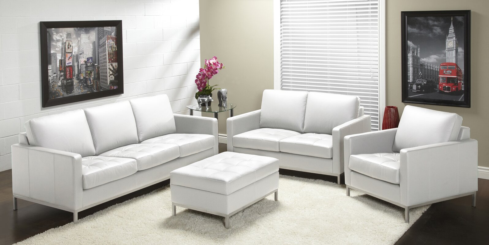 Lind Furniture 244 Series Leather Configurable Living Room Set ...