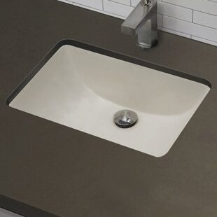 Online Reviews Ceramic Rectangular Undermount Bathroom Sink with Overflow ByRoyal Purple Bath Kitchen