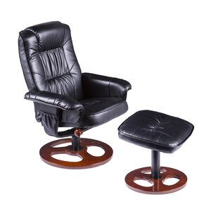 Grogg Manual Swivel Recliner with Ottoman