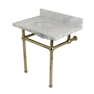Kingston Brass Templeton Marble Rectangular Undermount Bathroom Sink with Overflow