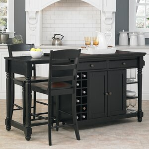 Cleanhill 3 Piece Kitchen Island Set