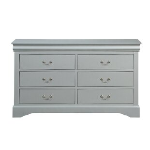 Pettaway Wooden 6 Drawer Double Dresser