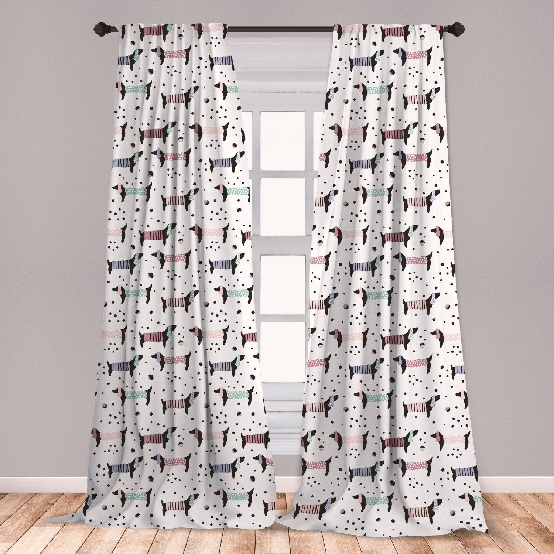 Transparent Soft Dog Tail Flower Sheer Window Screen Curtain Decor Curtains 8C