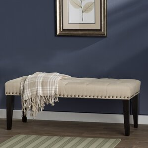 Mapletown Upholstered Bench by Three Posts