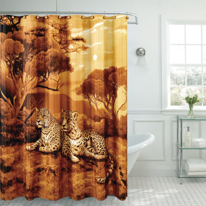 Daniels Bath Fancy Cheetah Single Shower Curtain