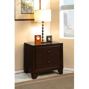 Heenan Wooden 2 Drawer Nightstand
