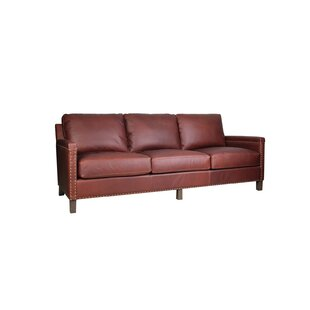Find Nailsea Leather Sofa by Darby Home Co Reviews (2019) & Buyer's Guide