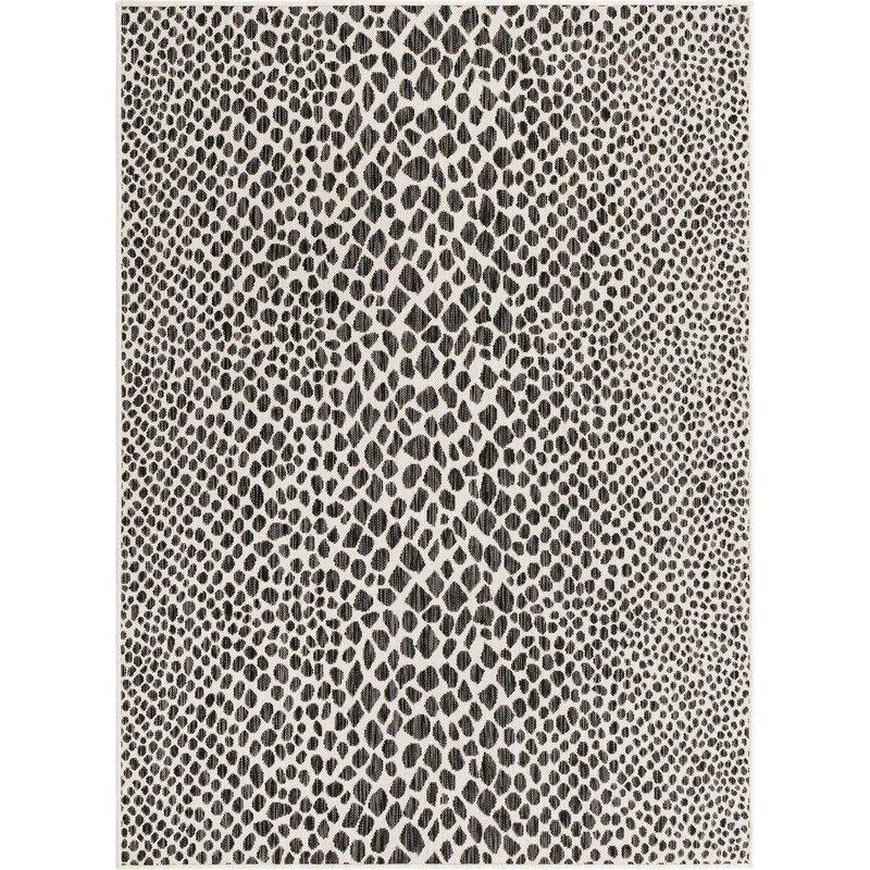 Shop Aliane Animal Print Black/White Indoor/Outdoor Area Rug from Wayfair on Openhaus