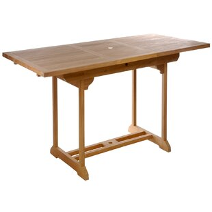 Extendable Solid Wood Bar Table by Chic Teak