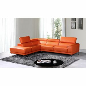 Cana Leather Reclining Sectional (Set of 2) by Orren Ellis