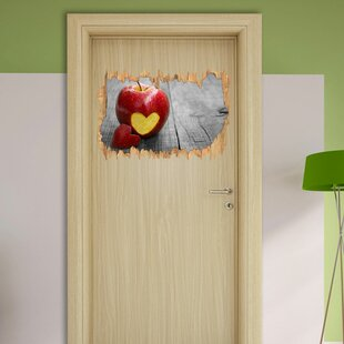 Heart Cut-Out In An Apple Wall Sticker By East Urban Home