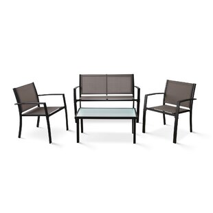 Orren Ellis Bothwell Outdoor Patio Leisure 4 Piece Dining Set