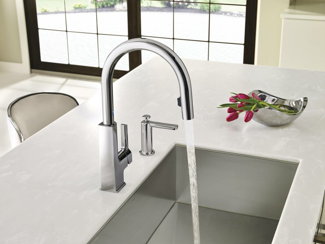Moen Sto Pull Down Touchless Single Handle Kitchen Faucet ...