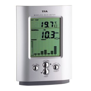 Wireless Rain Gauge And Thermometer By Symple Stuff