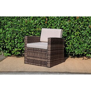 Outdoor Rattan Pool Garden Chair with Cushion