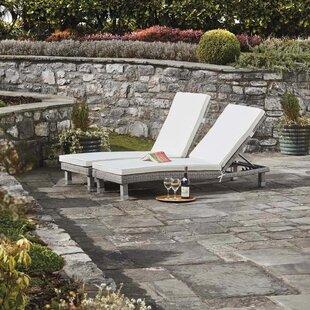 Philipsburg Reclining Sun Lounger Set With Cushion (Set Of 2) Image