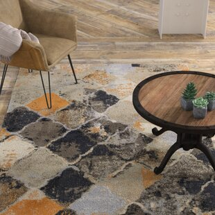 Read Reviews Ty Geometric Black/Gray Area Rug ByWilliston Forge