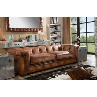 Darren Leather 4 Seater Chesterfield Sofa By Williston Forge