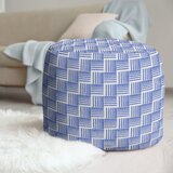 Classic Basketweave Stripes Pouf by East Urban Home