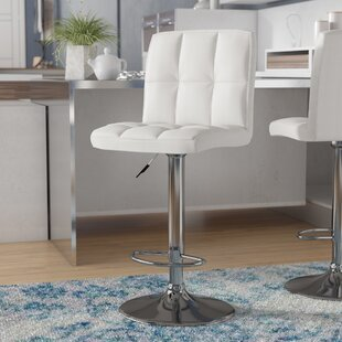 Lucht Adjustable Height Swivel Bar Stool by Brayden Studio