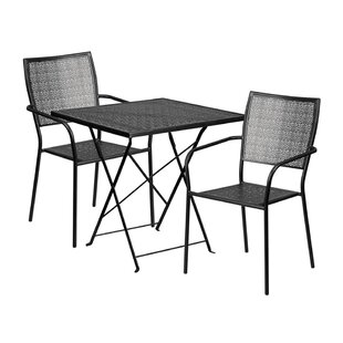 Winston Porter Speight Outdoor Steel 3 Piece Dining Set