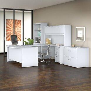 Bush Business Furniture Studio C U-Shaped Desk Office Suite with Hutch