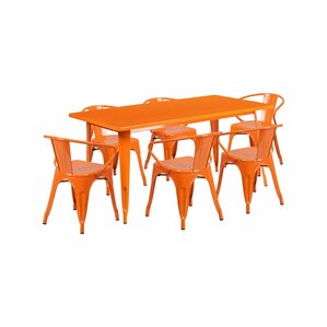 Gilbert Kids 7 Piece Rectangular Table And Chair Set