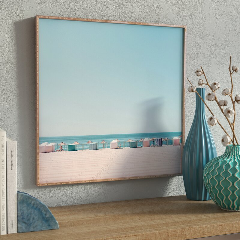 'Beach Huts' Photographic Print on Canvas in Blue/Beige