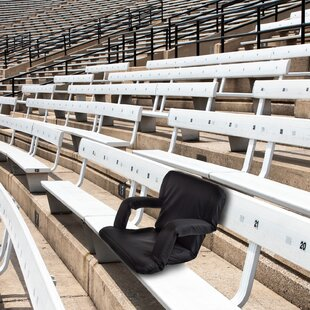 Marcelino Reclining/Folding Stadium Seat with Cushion