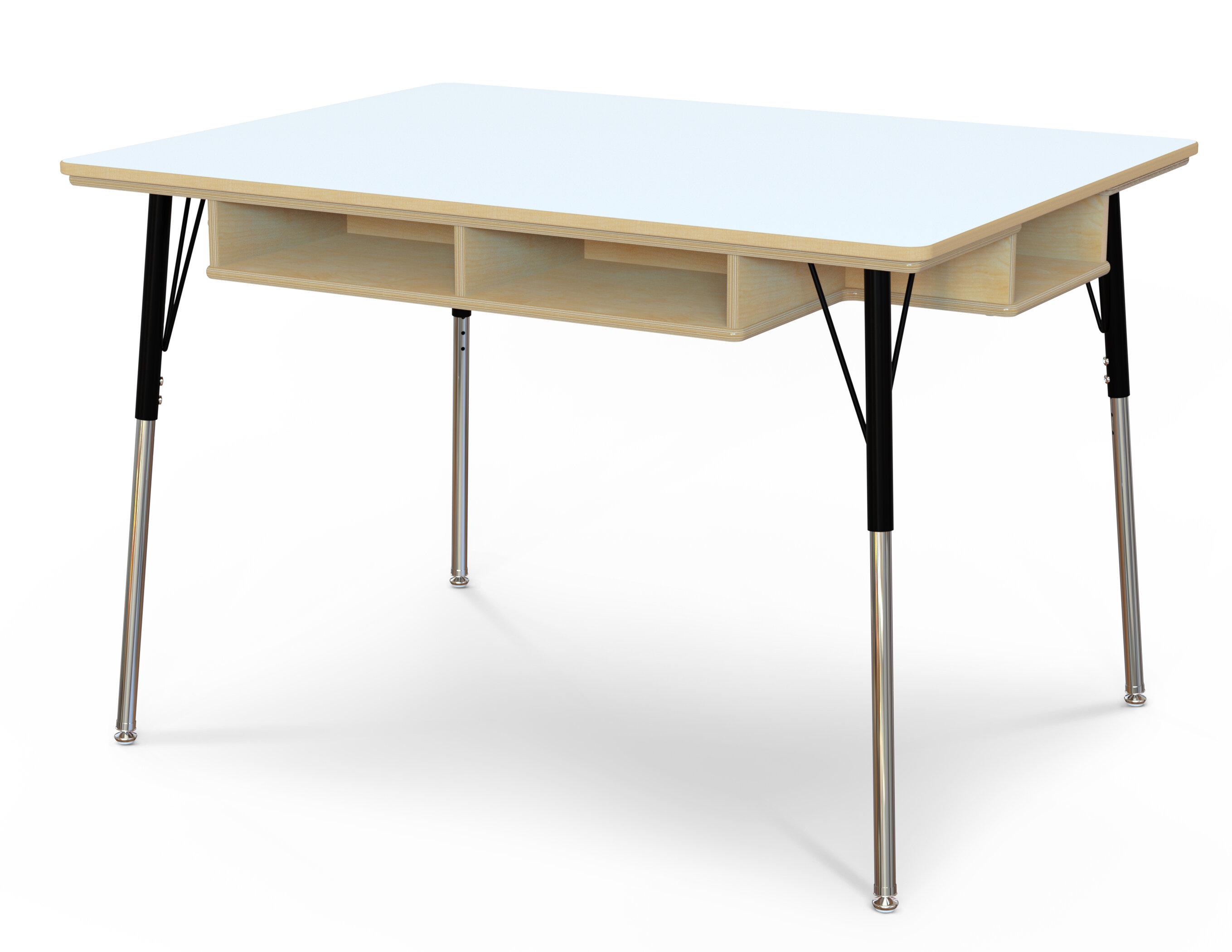 30 in. W x 48 in. D x 24 in. - 31 in. H. - Yellow Jonti-Craft Ridgeline Kydz Rectangular Activity Table