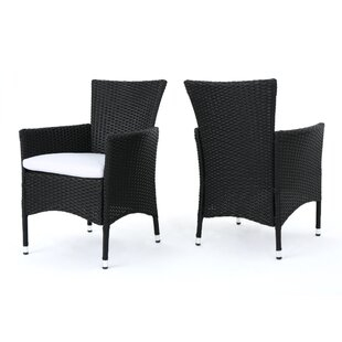 Carmack Patio Dining Chair With Cushion Set Of 2